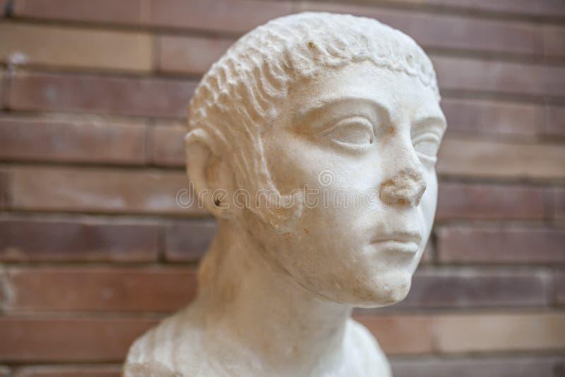 Il ritratto zingaresco della donna, Merida, Spagna fotografia stock