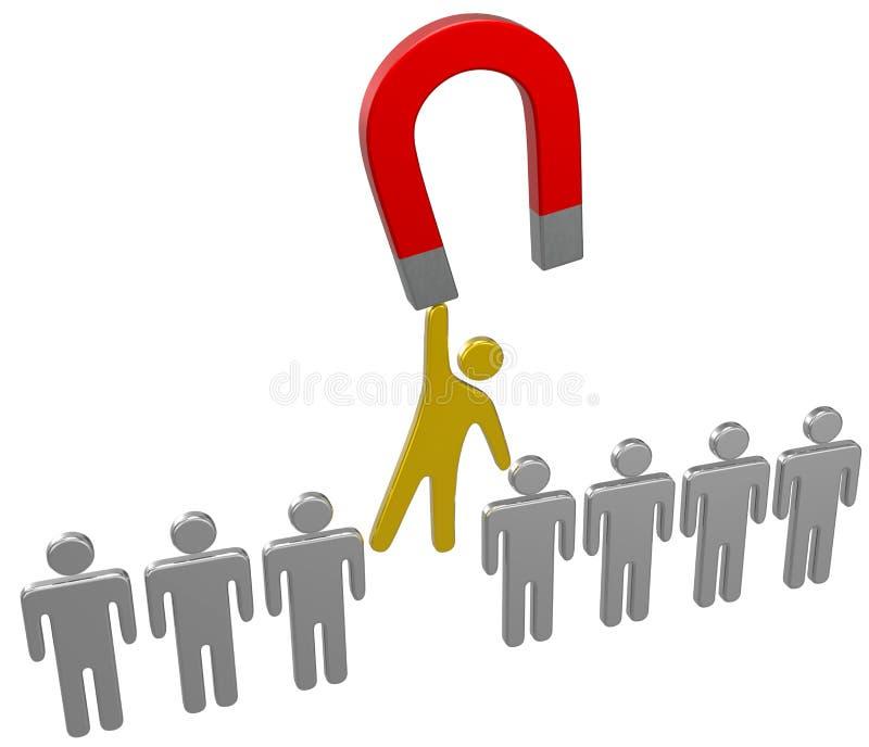 Il ritrovamento del magnete sceglie il gruppo della persona di noleggio royalty illustrazione gratis
