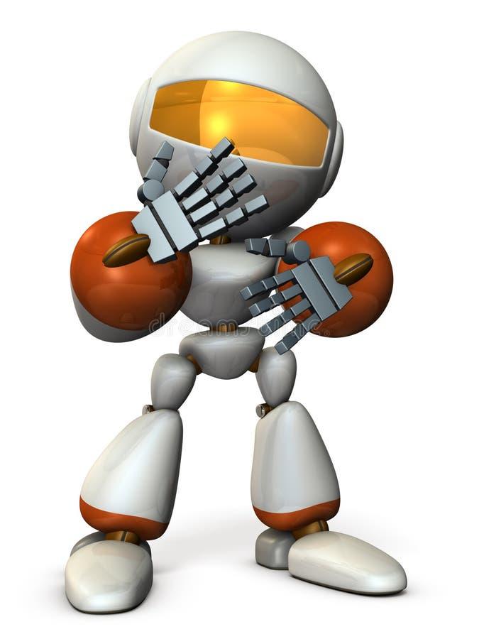 Il robot è molto timido royalty illustrazione gratis