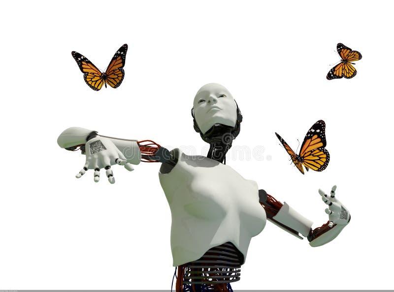 Il robot illustrazione vettoriale