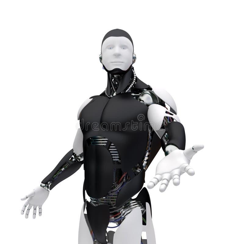Il robot dà una mano illustrazione di stock