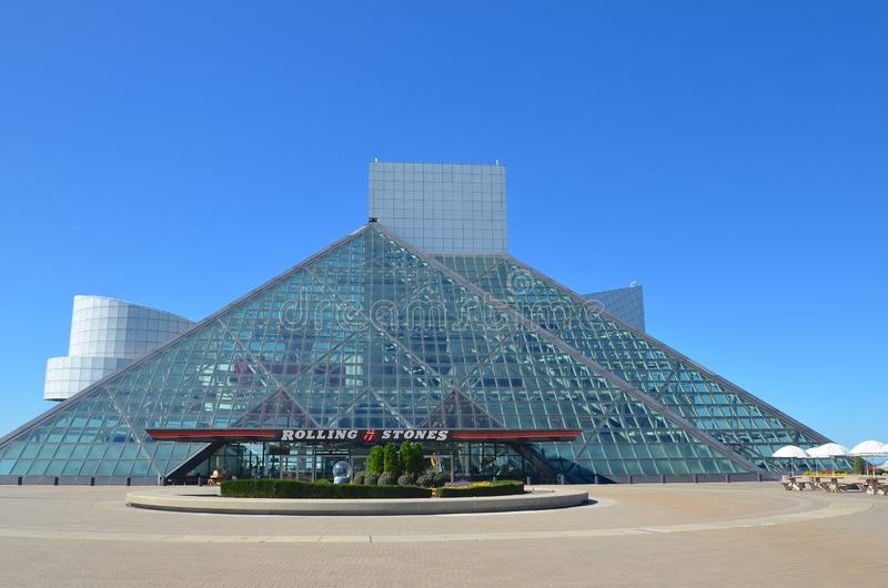 Il Rock and Roll Hall of Fame a Cleveland immagine stock
