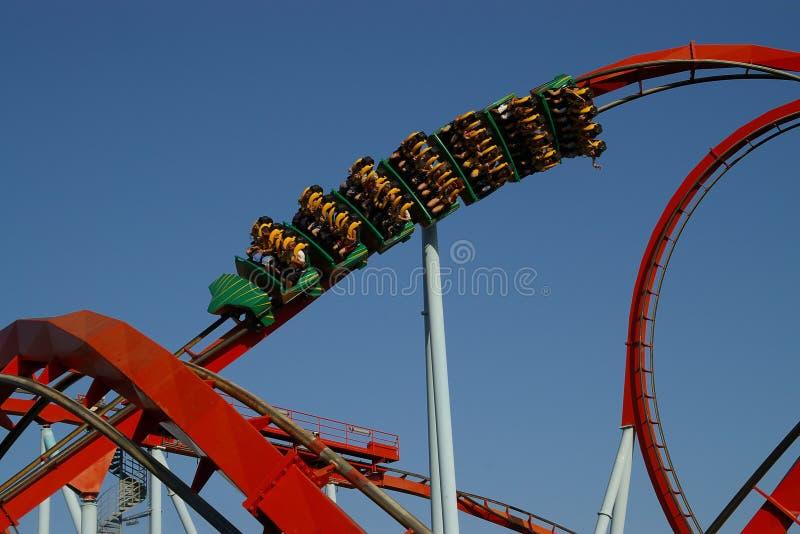 Il roller coaster fotografia stock