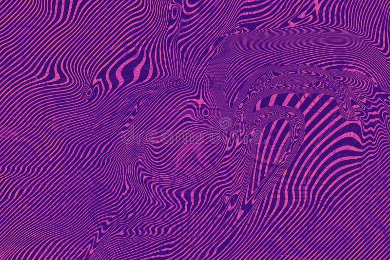 Il rosa astratto ha offuscato il fondo olografico ultravioletto, colore luminoso Concetto d'avanguardia di ultravioletto di color fotografia stock