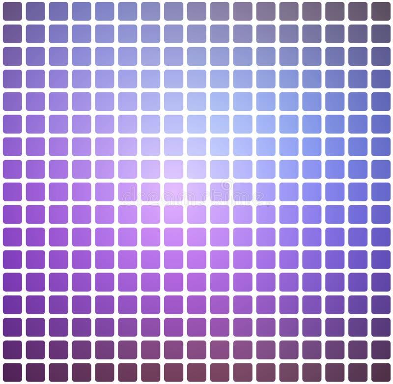 Il rosa lilla porpora ha arrotondato il fondo del mosaico sopra il quadrato bianco royalty illustrazione gratis