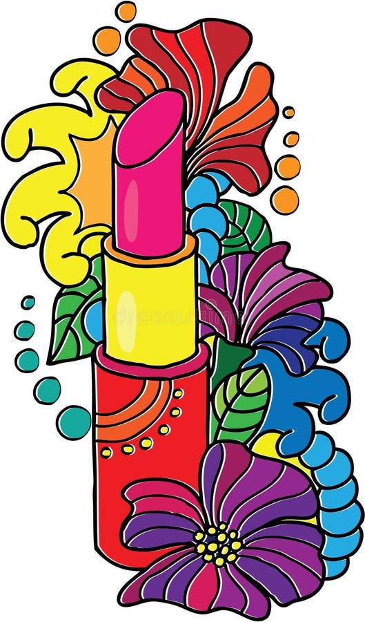 Il rossetto femminile. royalty illustrazione gratis