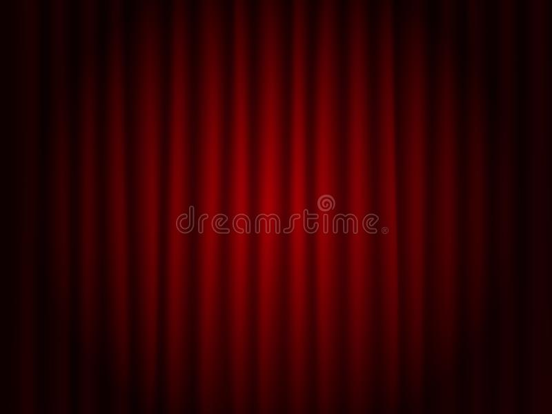 Il rosso del teatro copre il fondo Scena del teatro illustrazione vettoriale