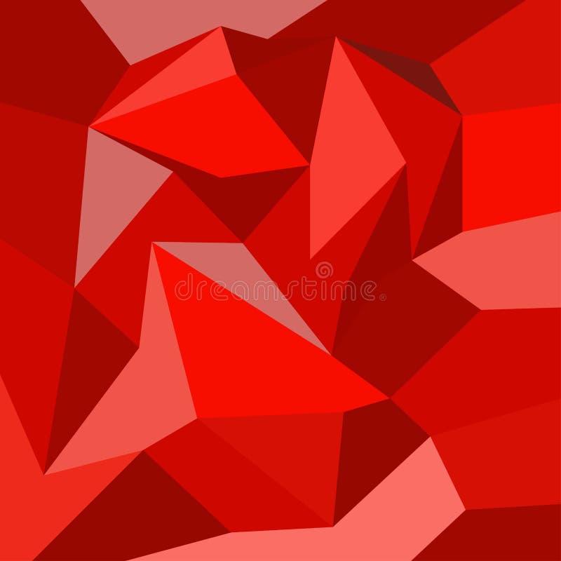 Il rosso gradien il fondo astratto celebra per il contesto, carta, ciao tecnologia illustrazione vettoriale