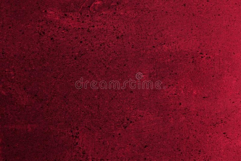 Il rosso ha sparpagliato la vecchia pittura sulla struttura del blocco - fondo astratto meraviglioso della foto fotografia stock