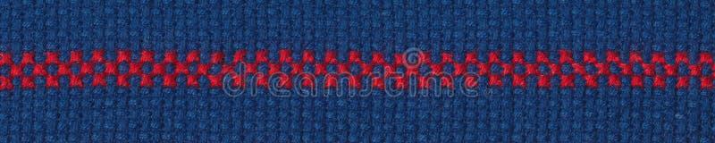 Il rosso rasenta il aida blu fotografia stock