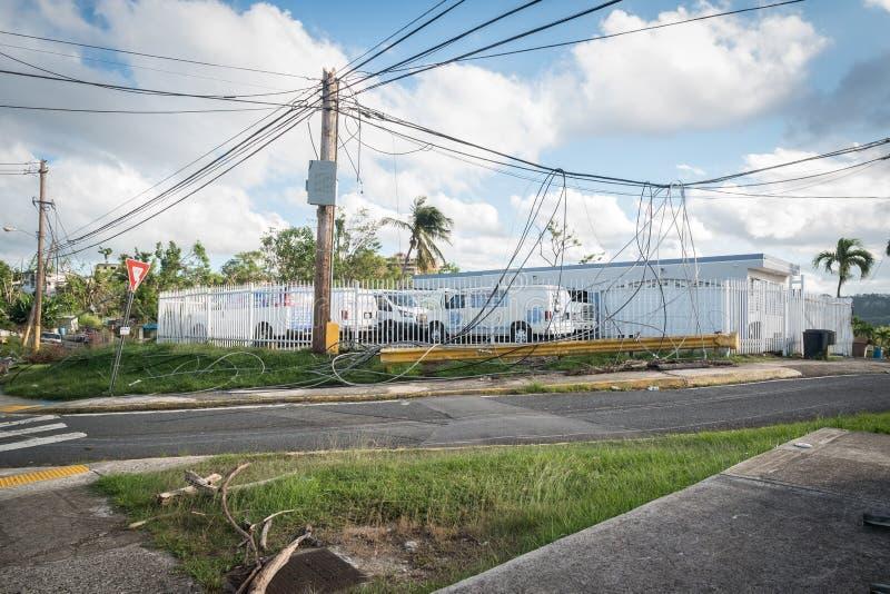 Il rottame dell'uragano Maria immagine stock