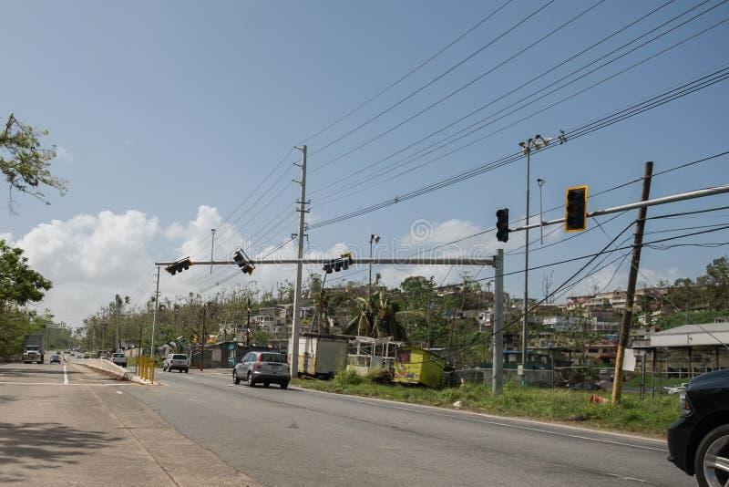 Il rottame dell'uragano Maria fotografia stock