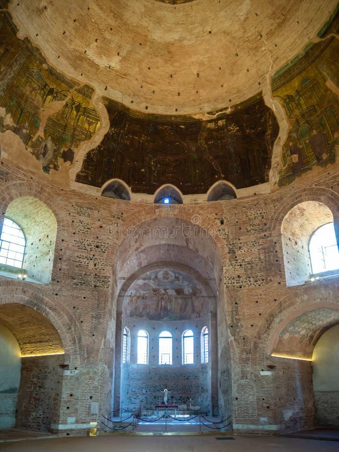 Il rotunda antico sulla st George Square dall'interno a Salonicco, Grecia fotografie stock