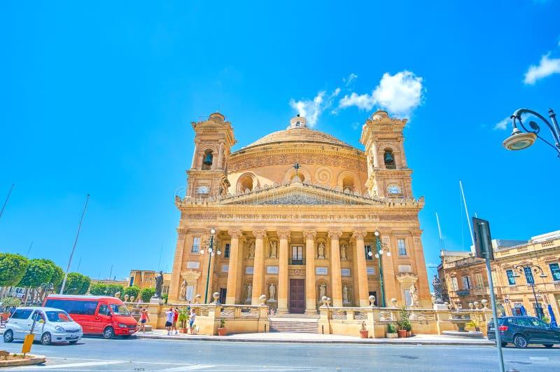 Il rotunda enorme in Mosta, Malta immagini stock libere da diritti