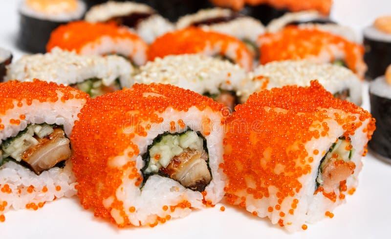 Il rullo di sushi Assorted fotografia stock libera da diritti