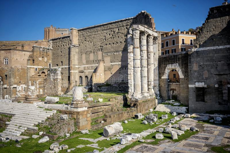Il ` s Forum Foro Di Traiano di Traiano a Roma, Italia fotografie stock