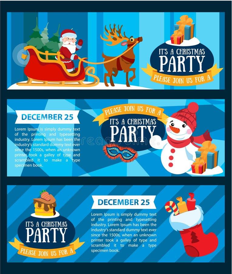 Il ` s une fête de Noël illustration libre de droits