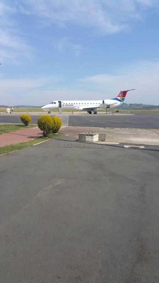 Il SA Airlink spiana nell'aeroporto di Oribi a Pietermaritzburg immagini stock