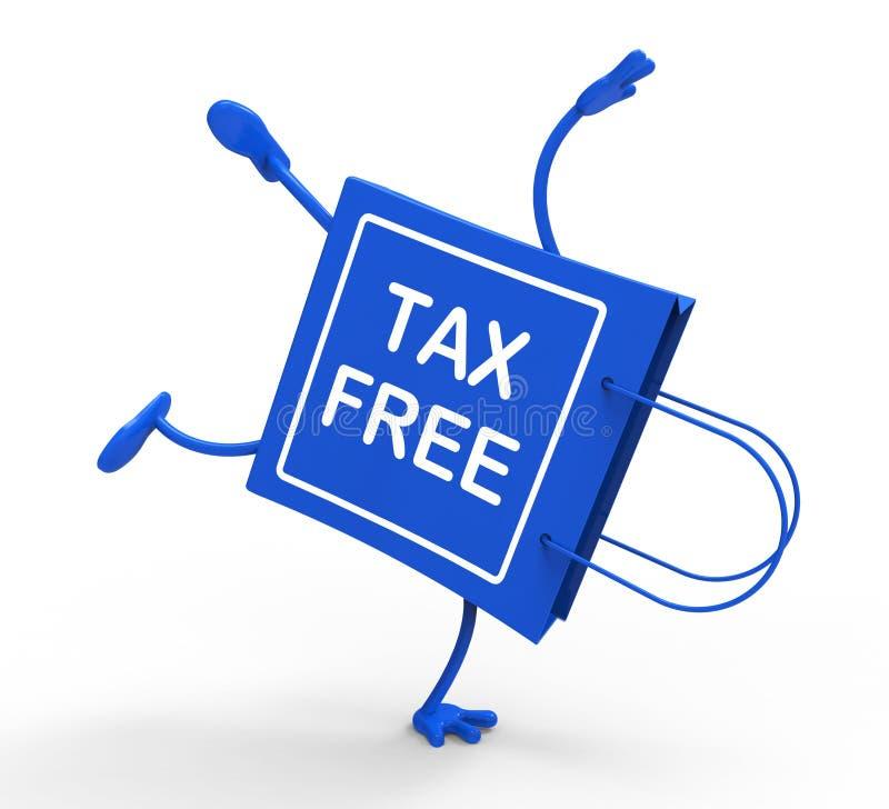 Il sacchetto della spesa esente da imposte di verticale non mostra tasse di dovere illustrazione vettoriale