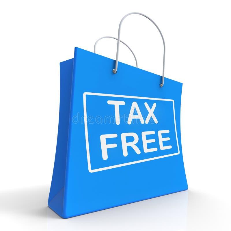 Il sacchetto della spesa esente da imposte non mostra tasse di dovere illustrazione vettoriale