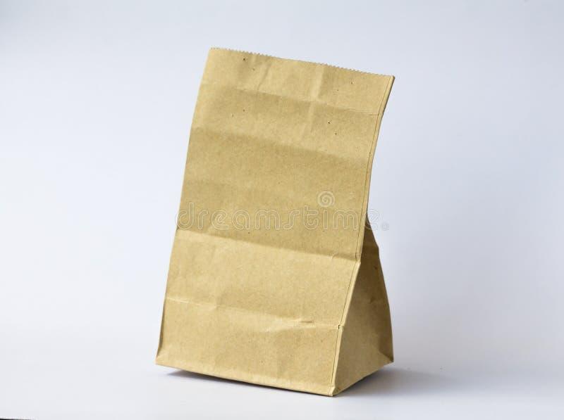 Il sacco di carta marrone fotografie stock
