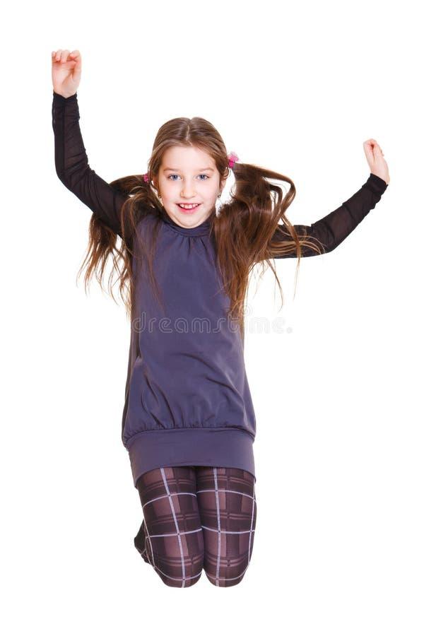 Il salto del bambino fotografie stock libere da diritti