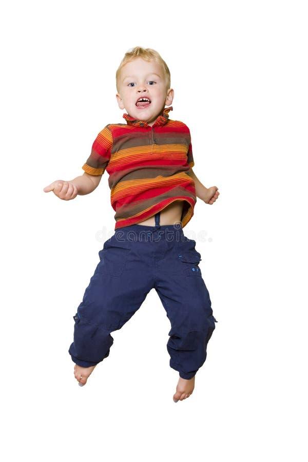 Il salto del bambino immagine stock libera da diritti