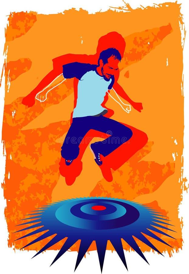 Il salto dell'uomo illustrazione di stock
