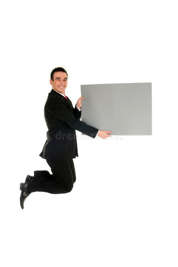 Il salto dell'uomo d'affari immagini stock libere da diritti