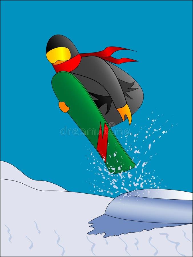 Il salto dello Snowboarder illustrazione di stock
