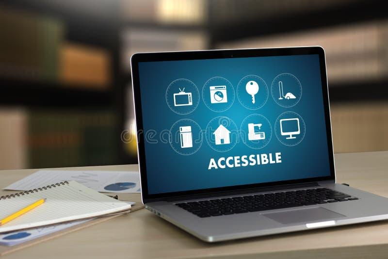 Il saluto benvenuto accessibile Access accessibile d'accoglienza entra immagini stock libere da diritti