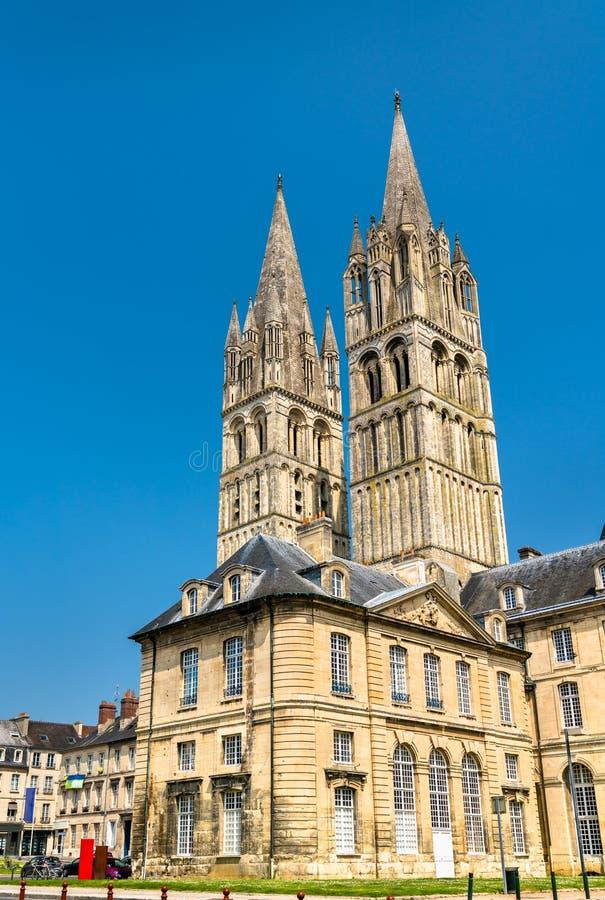 Il san Etienne Abbey Church a Caen, Francia fotografie stock