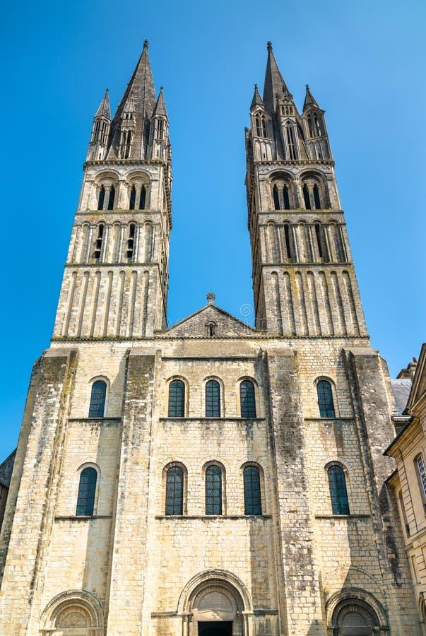 Il san Etienne Abbey Church a Caen, Francia fotografia stock libera da diritti