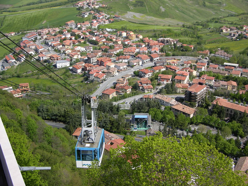 Il San Marino funicolare fotografie stock libere da diritti