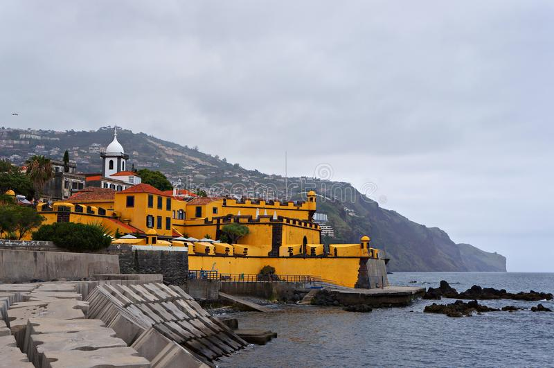 Il San Tiago Fort a Funchal, Madera immagini stock