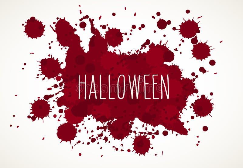 Il sangue di Halloween schizza il fondo royalty illustrazione gratis
