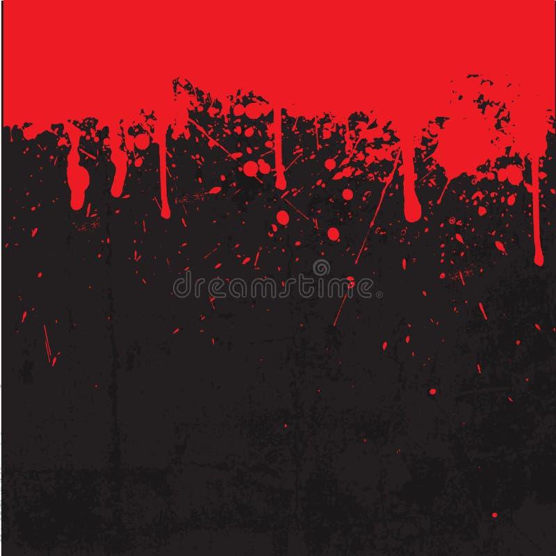 Il sangue schizza il fondo illustrazione di stock