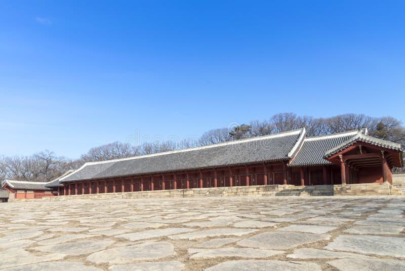Il santuario di Jongmyo è un santuario confuciano e le compresse di spirito di K fotografie stock libere da diritti