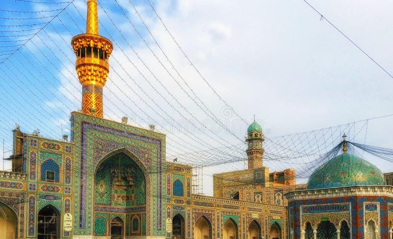 Il santuario santo nella città di Mashhad dell'Iran fotografia stock libera da diritti