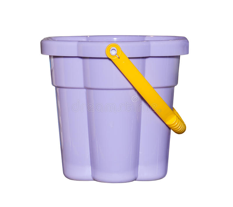 Il secchio di plastica scherza il giocattolo fotografie stock