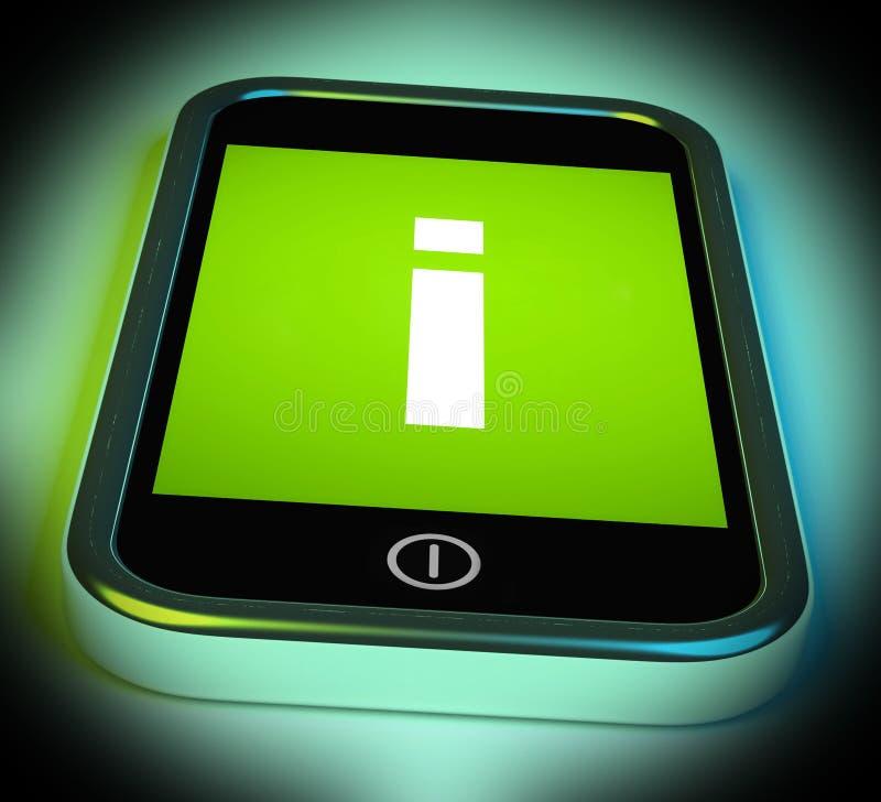 Il segnale di informazione sul cellulare mostra le informazioni e l'assistenza illustrazione vettoriale