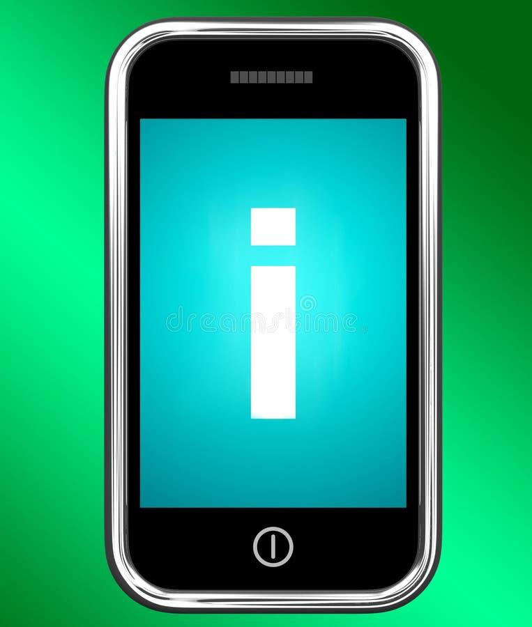 Il segnale di informazione sul telefono mostra le informazioni e l'assistenza illustrazione di stock