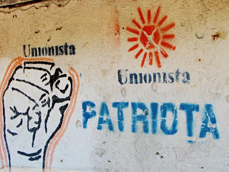 Il segno dell'insorto sulla parete nel Guatemala fotografia stock