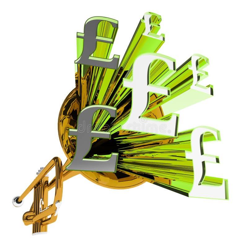 Il segno della libbra significa la valuta della Gran Bretagna illustrazione vettoriale