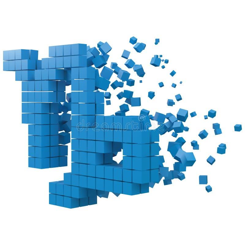 Il segno dello zodiaco di capricorno ha modellato il blocco di dati versione con i cubi blu illustrazione di vettore di stile del illustrazione vettoriale