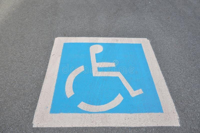 Il segno di handicap fotografie stock