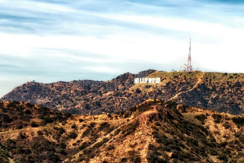 Il segno di Hollywood da Griffith Park, supporto Hollywood, Los Ange immagini stock libere da diritti