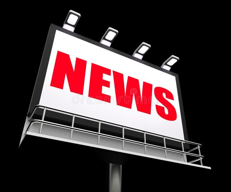 Il segno di notizie rappresenta gli articoli di stampa e illustrazione vettoriale