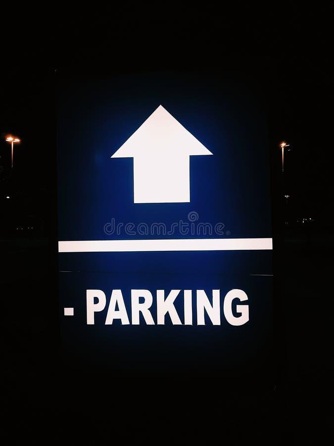 Il segno di parcheggio fotografia stock libera da diritti
