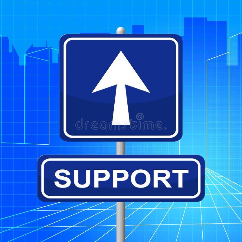 Il segno di sostegno significa le informazioni e l'aiuto di informazioni illustrazione vettoriale